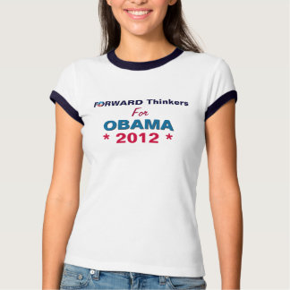Forward Thinkers for Obama Ringer T-Shirt
