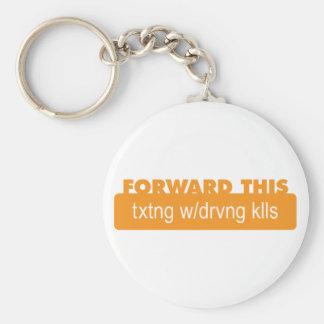 Forward this - Texting while driving kills Key Ring