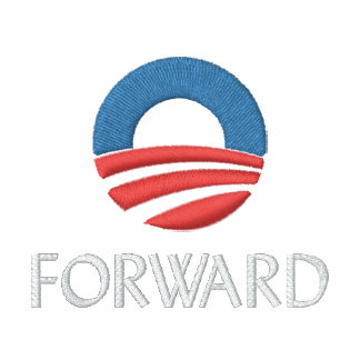 Forward with Obama Embroidered Polo Shirt
