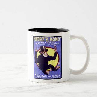 Fosforos El Mono Cuban Cigars Two-Tone Mug