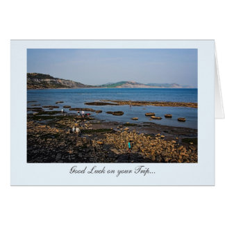 Fossil Beach, Good Luck on your Trip Greeting Card