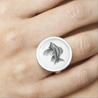 Fossil Fish Ring