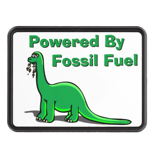 Fossil Fuel Dinosaur Trailer Hitch Cover
