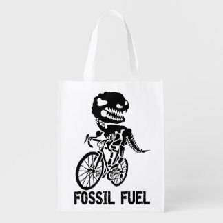 Fossil fuel reusable grocery bag