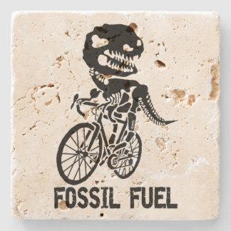 Fossil fuel stone coaster