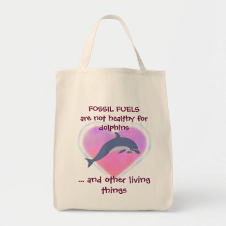 Fossil Fuels are Not Healthy tote bag