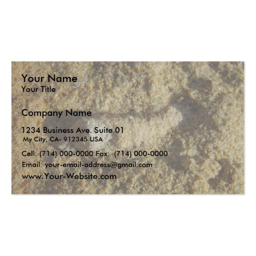 Fossil Root In Limestone At Wanneroo Beach Business Card