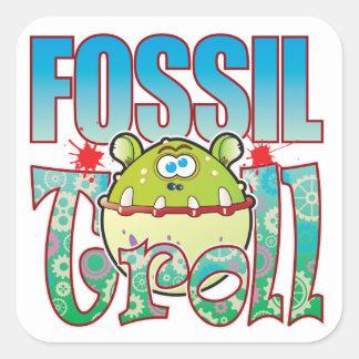 Fossil Troll Square Sticker