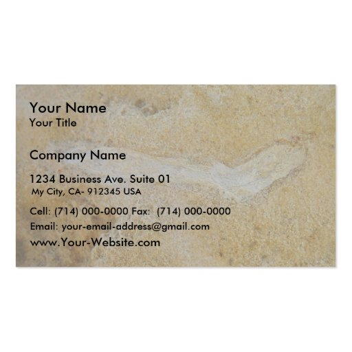 Fossil Twig In Limestone, Wanneroo Beach Business Card Templates