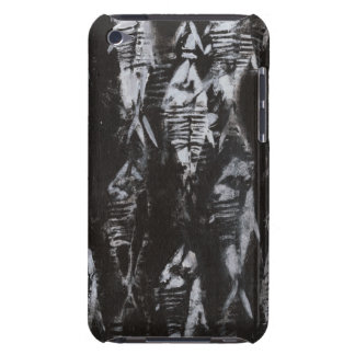 Fossil White Fish on Black Background iPod Touch Case