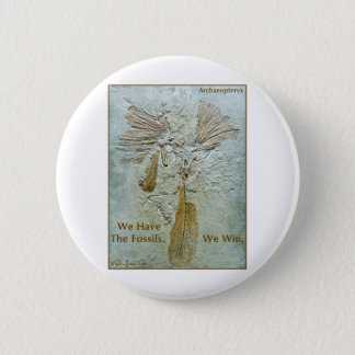 Fossil Win Archaeopteryx 6 Cm Round Badge