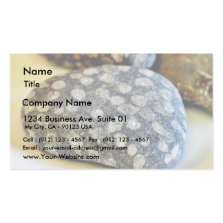 Fossils Rocks Coral Business Card Template