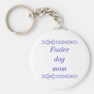 Foster dog mom keychain