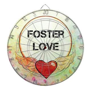 Foster Love Watercolor Heart Dartboard