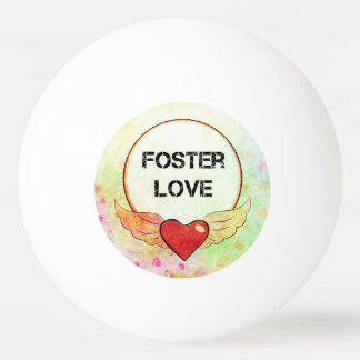 Foster Love Watercolor Heart Ping Pong Ball