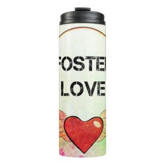 Foster Love Watercolor Heart Thermal Tumbler