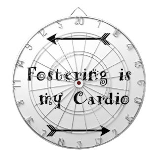 Fostering is my Cardio - Foster Care Dartboard