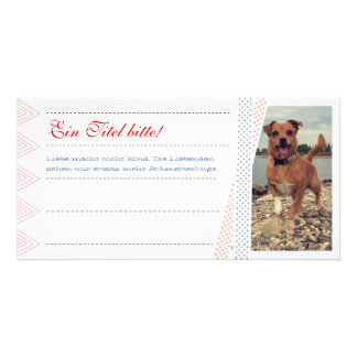 Foto Karten mit Text Personalized Photo Card