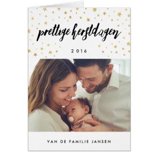 Foto kerstkaarten | Gouden Sterren Card