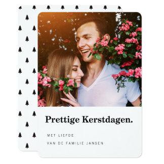 Foto Kerstkaarten | Moderne Typografie Card
