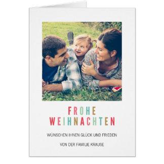 foto Weihnachtskarte | Bunte Weihnachten Card