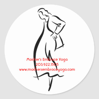 Fotosearch_Fotosearch_col_115, Mother's Embrace... Classic Round Sticker