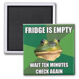 Foul Bachel Frog Empty Fridge Square Magnet