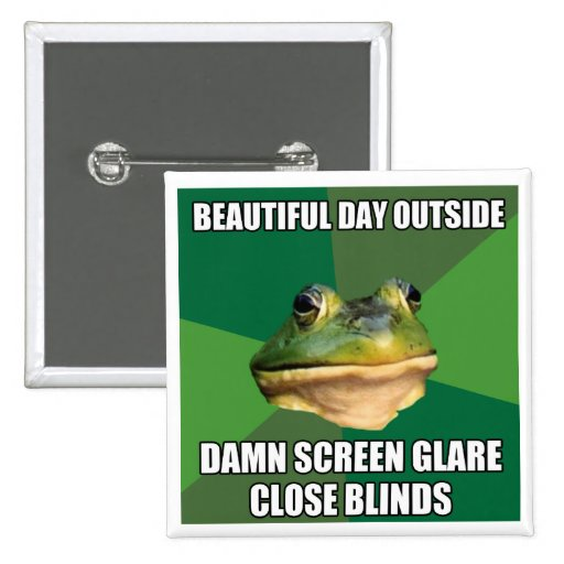 Foul Bachelor Frog Beautiful Day Pin