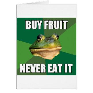 Foul Bachelor Frog Buy Fruit Greeting Card