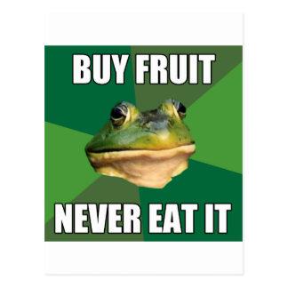 Foul Bachelor Frog Buy Fruit Postcard