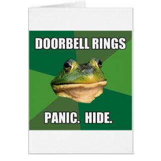Foul Bachelor Frog Doorbell Rings Card