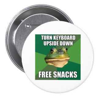 Foul Bachelor Frog Free Snscks Pinback Button