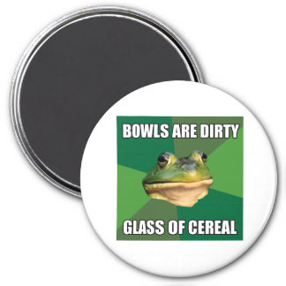 Foul Bachelor Frog Glass of Cereal 7.5 Cm Round Magnet