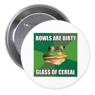 Foul Bachelor Frog Glass of Cereal Pin