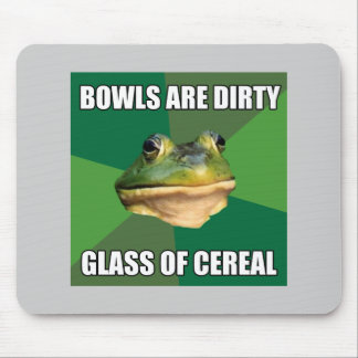 Foul Bachelor Frog Glass of Cereal Mouse Pad