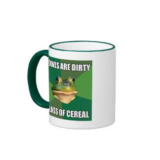 Foul Bachelor Frog Glass of Cereal Ringer Mug