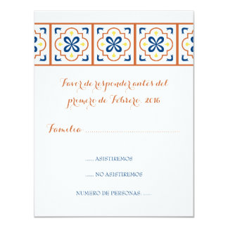 Foulke rsvp Spanish 11 Cm X 14 Cm Invitation Card