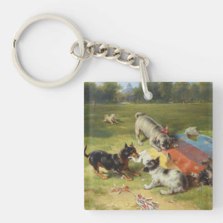 Found a Toy by Frank Paton Double-Sided Square Acrylic Keychain