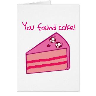 Found Cake Birthday Card