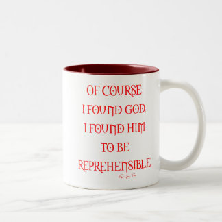 Found god Two-Tone mug