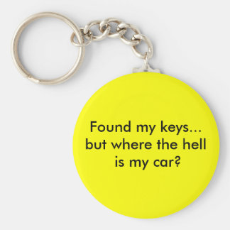 Found my keys...but where the hell is my car? basic round button key ring