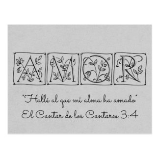 Found One My Soul Loves~Scripture~Spanish~RSVP Postcard