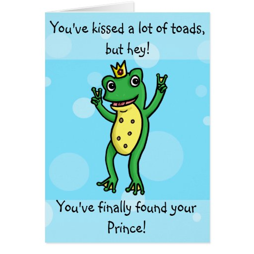Found your prince - frog prince engagement card
