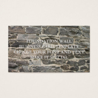 FOUNDATION WALL BUSINESS CARD TEMPLATE