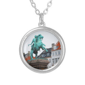 Founder of Copenhagen Absalon - Højbro Plads Silver Plated Necklace
