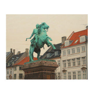 Founder of Copenhagen Absalon - Højbro Plads Wood Wall Decor
