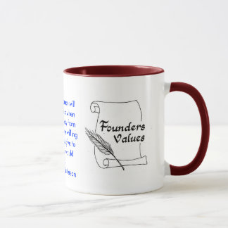 Founders Values Thomas Jefferson Ringer Mug