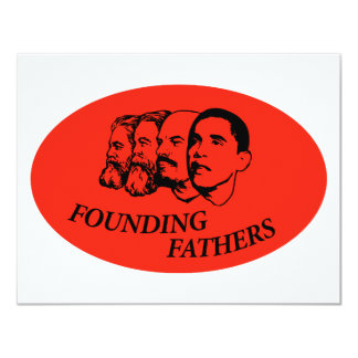 Founding Fathers 11 Cm X 14 Cm Invitation Card