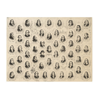 Founding Fathers 1876 Wood Canvases