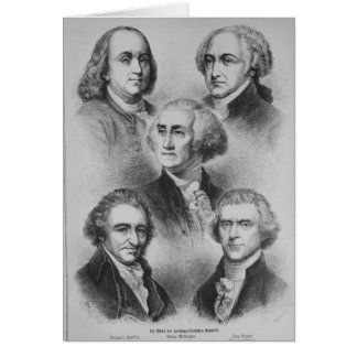Founding Fathers black and white Portraits Card